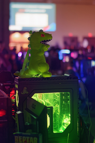 Reptar inspired Computer Case Mod at Quakecon 2018