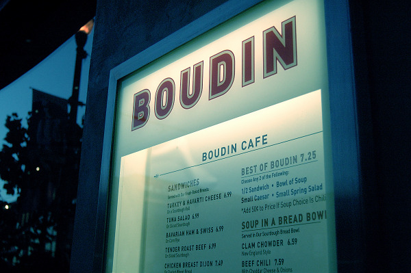 Menu at Boudin on Pier 39