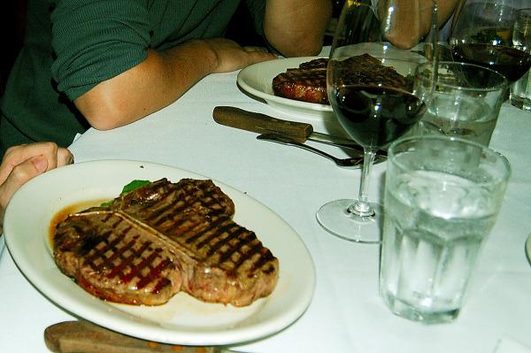 Giant Porterhouse Steak at Morton's, San Francisco