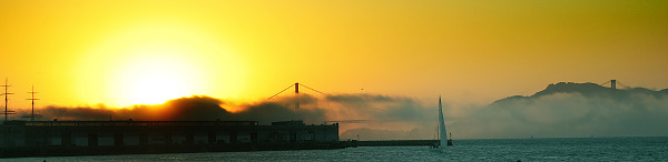 Golden gate in the sunset