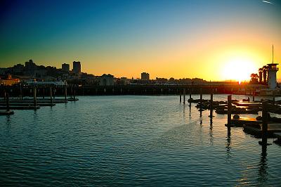 san-francisco > Pier 39 at sunset