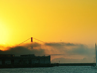 san-francisco > Golden gate in the sunset