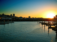 san-francisco > Pier 39 at sunset
