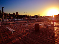 san-francisco > Wooden sunset at Pier 39