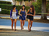 san-jose-state > Three cute fashionable girls walking on San Jose Campus