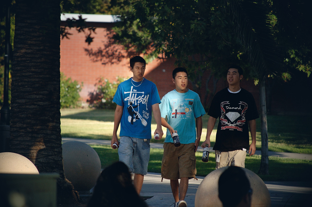 Three Asian American boys headed to an event at SJSU